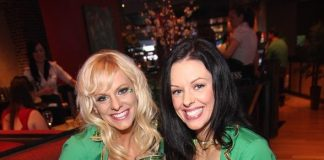 The FANTASY ladies enjoy green beer at Public House Las Vegas