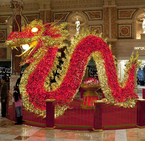 The Forum Shops at Caesars Palace Dragon Display