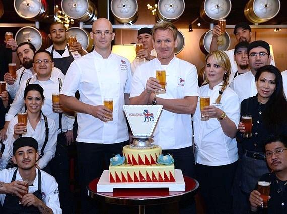The Gordon Ramsay Pub & Grill team at Caesars Palace toasts to a successful first year