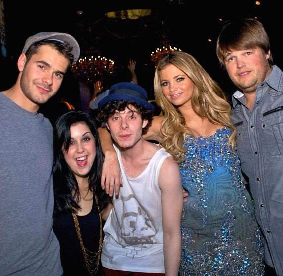 "Jayson Blair, Kara Taitz, Paul Iacono, Amber Lancaster and Jareb Dauplaise from MTV's ""The Hard Times of RJ Berger"" at Gallery Nightclub"