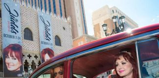 The Judds Cruise into The Venetian Las Vegas in Classic '57 Chevy for Girls Night Out