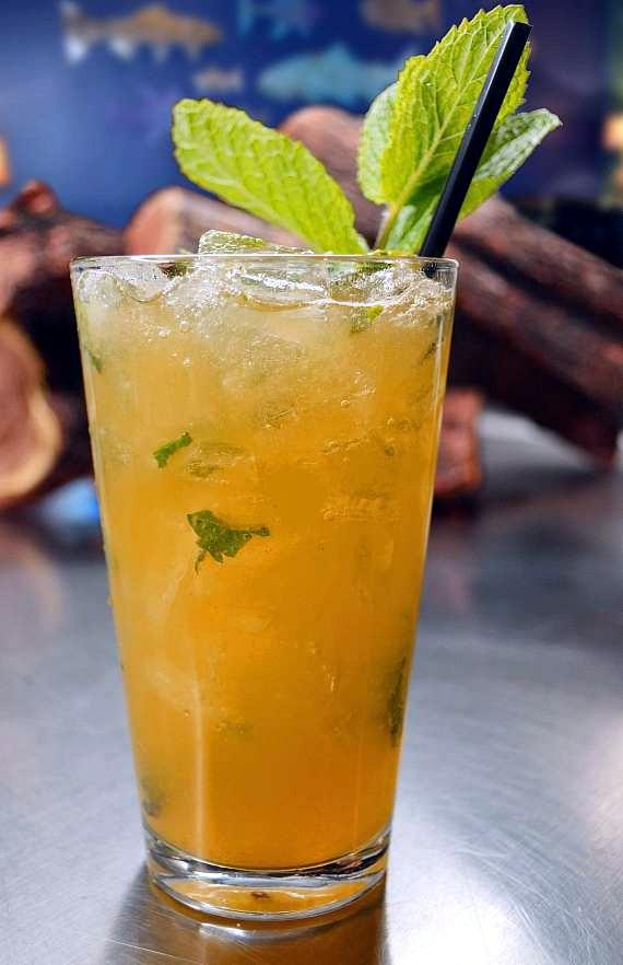 The Mojito Bar at Seafood Shack - Pirate Peach Mojito