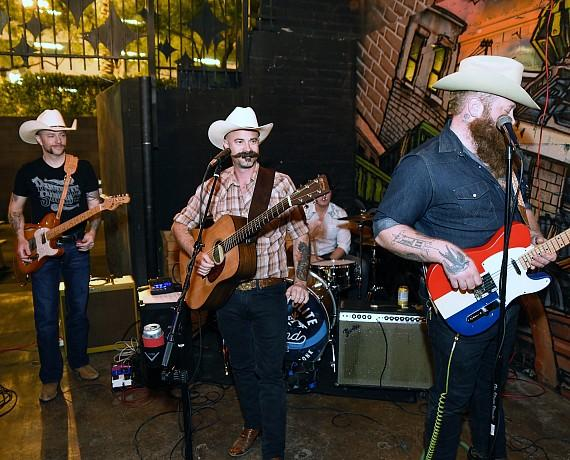 The Rhyolite Sound plays at Evel Pie_s first anniversary celebration