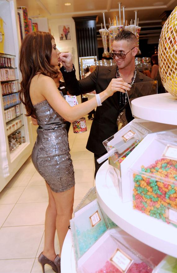 "Mike ""The Situation"" Sorrentino shopping with Marcy Depena at Sugar Factory in Las Vegas"
