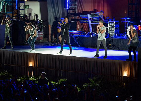 The Wanted plays the Boulevard Pool at The Cosmopolitan of Las Vegas