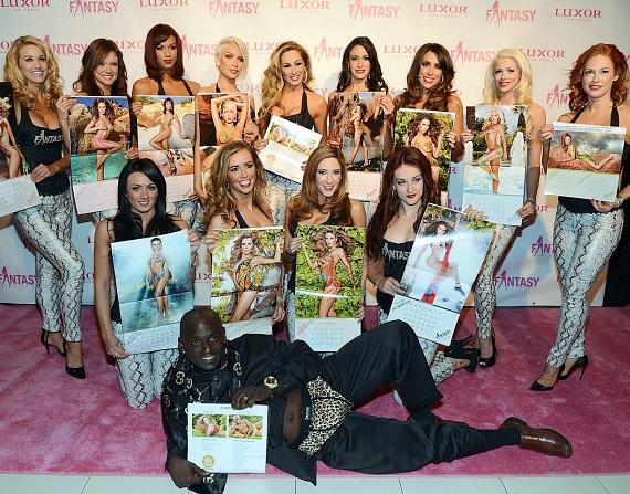 FANTASY ladies with Bugsy from Heaven Can Wait Animal Sanctuary on the pink carpet