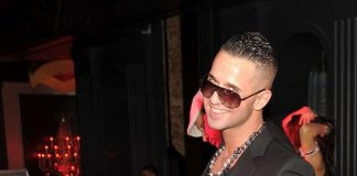 """Mike """"The Situation"""" Sorrentino in the DJ booth inside Chateau Nightclub & Gardens"""