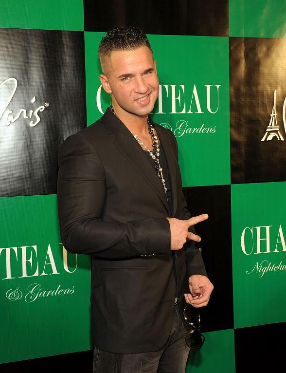 "Mike ""The Situation"" Sorrentino in the DJ booth inside Chateau Nightclub & Gardens"