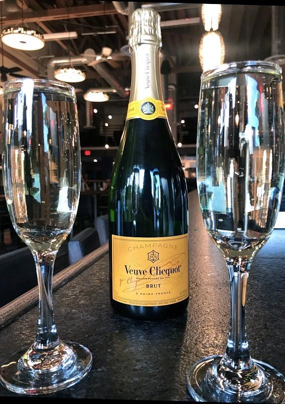 Therapy will offer a special on Veuve Clicquot champagne