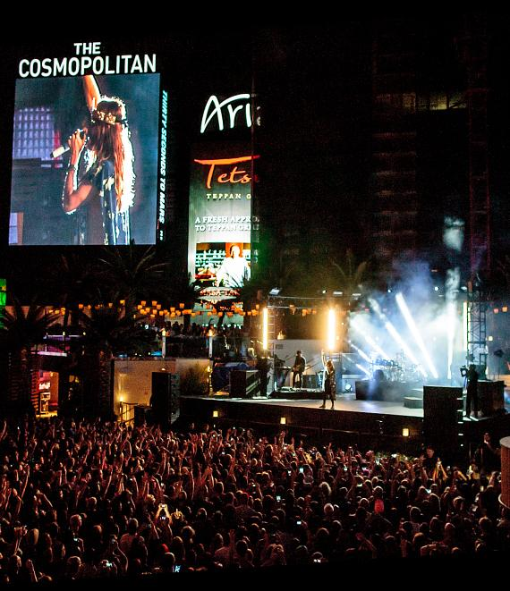 Thirty Seconds to Mars Performs at The Boulevard Pool at The Cosmopolitan of Las Vegas