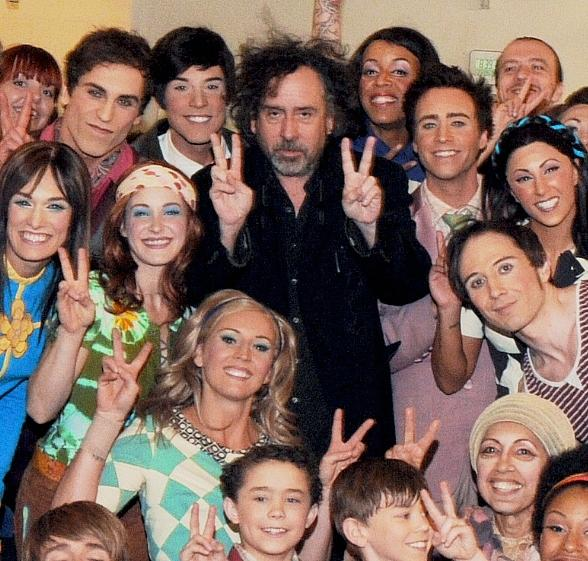 Director Tim Burton Attends The Beatles LOVE by Cirque du Soleil at The Mirage