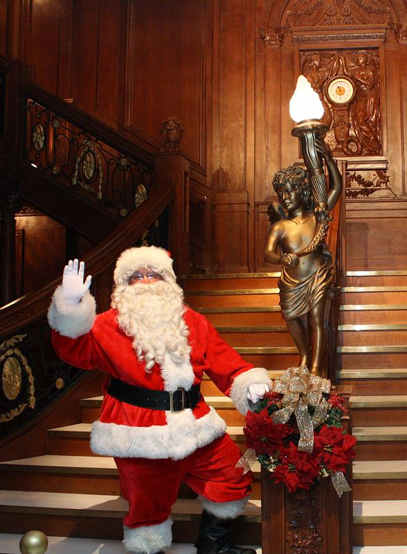 """Santa Spreads Holiday Cheer at """"Titanic: The Artifact Exhibition"""" inside Luxor Hotel and Casino"""