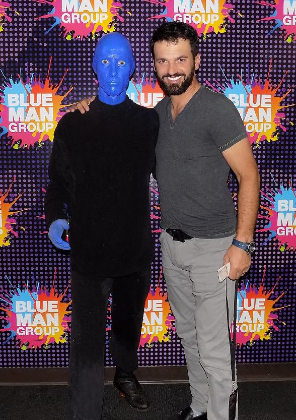 """""""Dancing with the Stars"""" Instructor Tony Dovolani Attends Blue Man Group in Las Vegas at Luxor Hotel and Casino"""