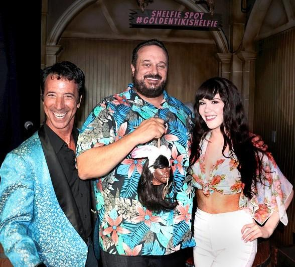 Playboy Playmate Claire Sinclair and Comedian Monti Rock III Help The Golden Tiki Celebrates 2 Year