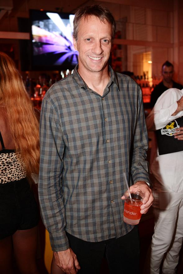 Skateboarder Tony Hawk at Surrender Nightclub