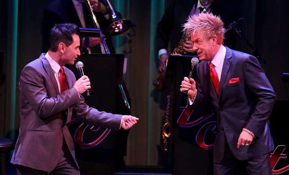 """Travis Cloer and Zowie Bowie perform in """"Christmas at My Place"""""""