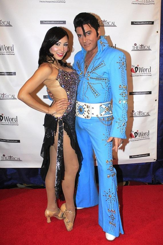 Trent Carlini and Ashley Belle walk the red carpet at The D*Word-A Musical Opening Party