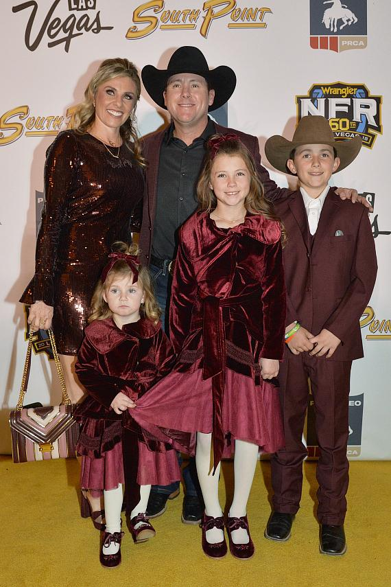 Trevor Brazile and wife Shada Brazile, and children Treston, Style and Swayzi