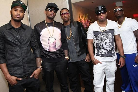 """Diddy poses on the red carpet at """"Fight Night After Party"""" at Palms Pool inside Palms Casino Resort in Las Vegas"""
