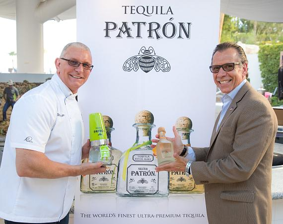 Celebrity Chef Robert Irvine at Patron booth
