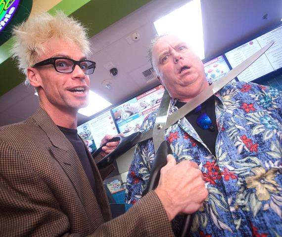 Murray SawChuck and Kevin Burke at Tropical Smoothie