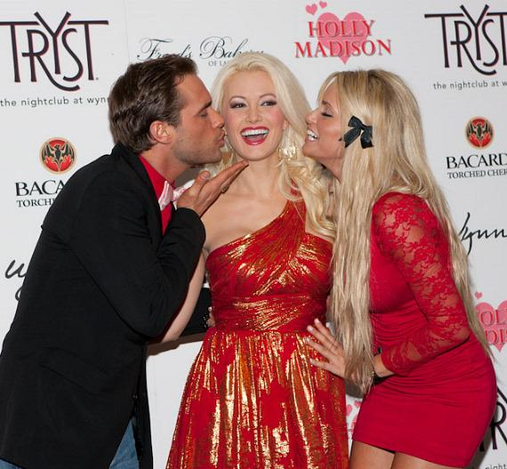 Josh Strickland, Holly Madison and Angel Porrino at Tryst Nightclub