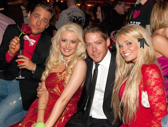 Holly Madison and Josh Strickland at Tryst
