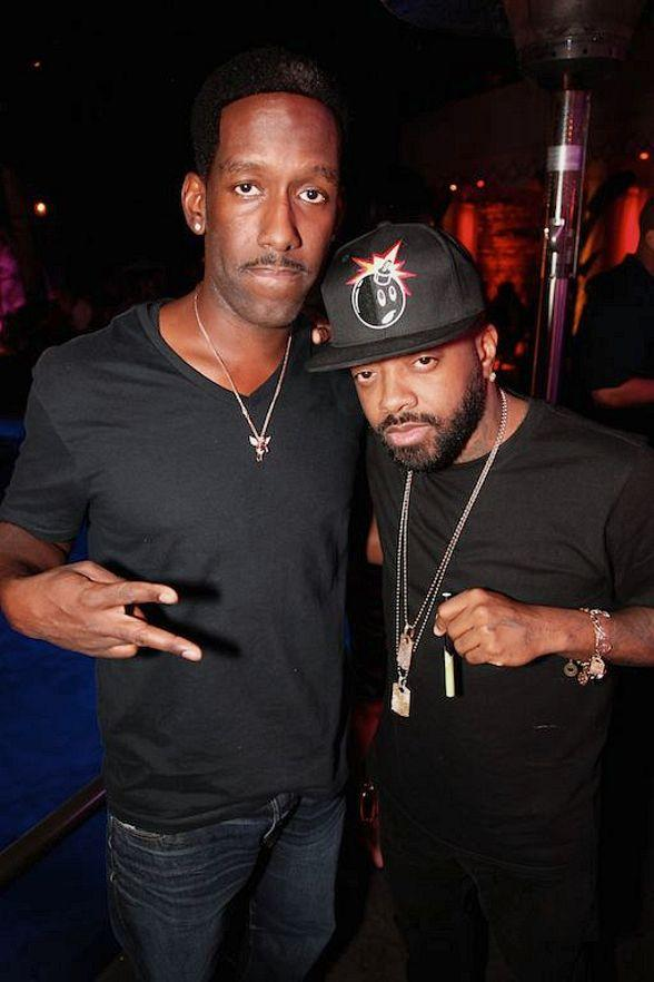 Shawn Stockman and Jermaine Dupri at Tryst