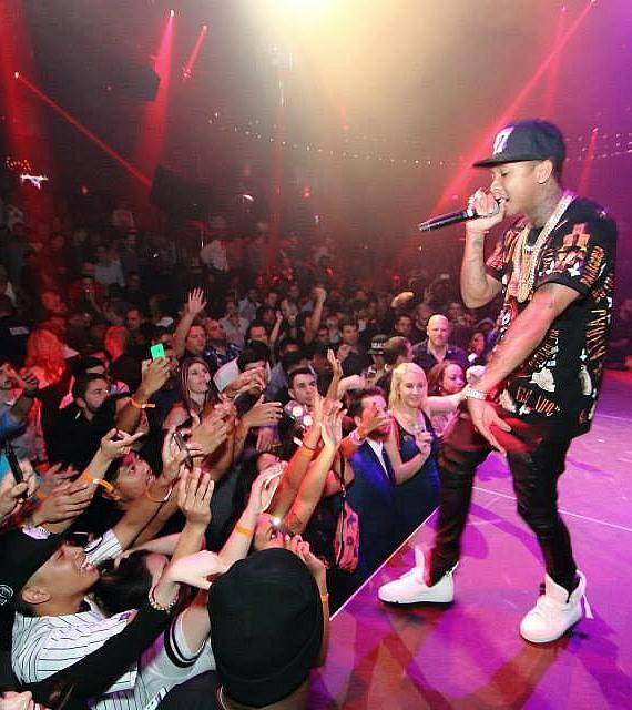 Superstar Recording Artist Tyga Performs at LIGHT Nightclub at Mandalay Bay