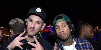 Tyga and Eric D-Lux at Apex Social Club in Las Vegas