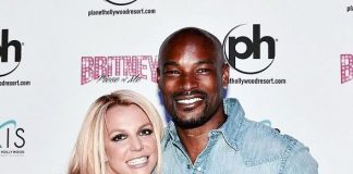 """Super Model & Chippendales headliner Tyson Beckford at """"Britney: Piece of Me"""" at Planet Hollywood Resort & Casino"""