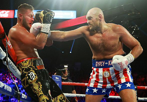 Gypsy King Conquers Vegas: Tyson Fury Knocks Out Tom Schwarz in 2 Rounds