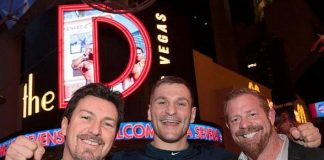 """UFC fighters Forrest Griffin and Stipe Miocic, Patriots' Nate Ebner, """"Counting Cars"""" star Horny Mike and Alien Ant Farm singer Dryden Mitchell spotted at the D Las Vegas"""