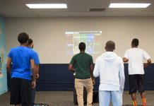 Fun Exercise with New Technology at Boys & Girls Club