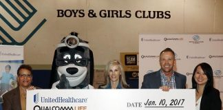 """UnitedHealthcare and Qualcomm Donate $50,000 to Boys & Girls Clubs of America Following """"5 Million Step Challenge"""" at CES 2017"""