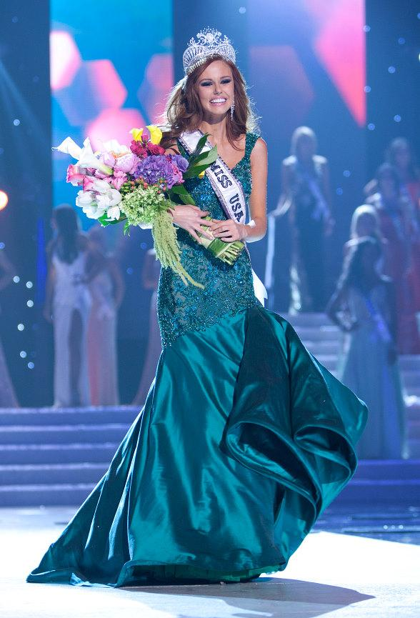 Miss Texas USA 2011, Ana Christina Rodriguez; Miss Alabama USA 2011, Madeline Mitchell; Miss Tennessee USA 2011, Ashley Durham; and Miss California USA 2011, Alyssa Campanella are the Final Four in the 2011 Miss USA Pageant
