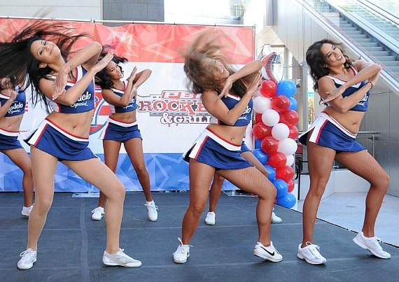 USA Sevens rugby cheerleaders