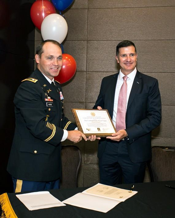 The Cosmopolitan of Las Vegas Hosts Military Leaders for the U.S. Army's Partnership for Youth Success Signing Ceremony Oct. 27