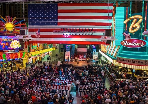 """Fremont Street Experience Hosts 7th Annual """"Salute to the Troops"""" with Free Show by Gary Sinise & the Lt. Dan Band, Nov. 9"""