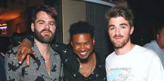 Usher Attends Performance by The Chainsmokers at XS Nightclub at Wynn Las Vegas
