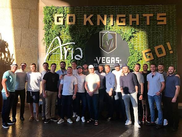 Vegas Golden Knights Players Dine at ARIA in Las Vegas