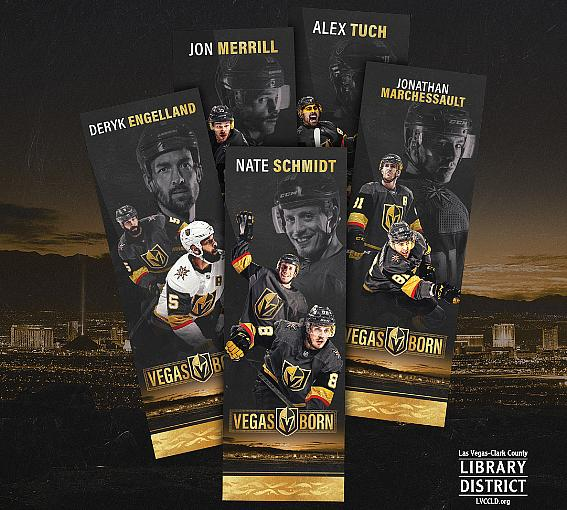 Las Vegas-Clark County Library District Reopenings and Vegas Golden Knights Bookmarks