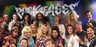 Blue Bloods Star Vanessa Ray Attends ROCK OF AGES at The Venetian Las Vegas