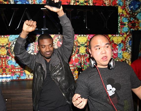 Ray J and DJ Five at Hard Rock Hotel in Las Vegas