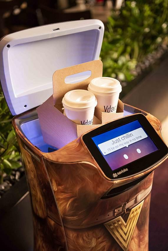 Fetch and Jett robots deliver snacks, sundries, and even spa products directly to guest suites