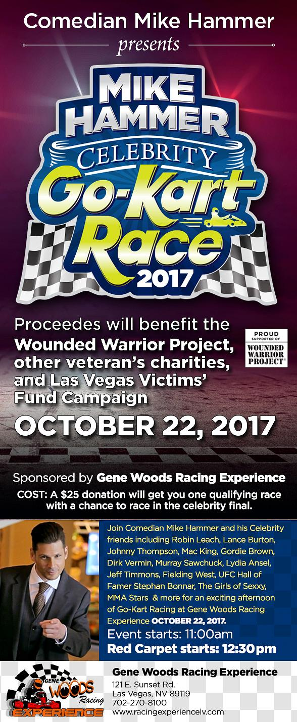 Mike Hammer's Celebrity Go-Kart Race on October 22
