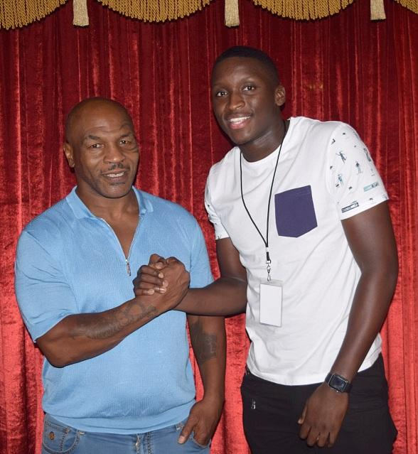 """NBA stars Julius Randle, Devin Booker and Victor Oladipo attend """"Mike Tyson Undisputed Truth"""" at MGM Grand"""