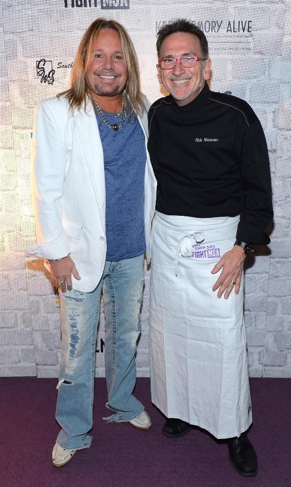 Vince Neil and Rick Moonen