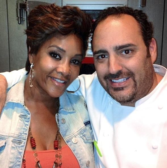 Vivica A. Fox with Chef Barry