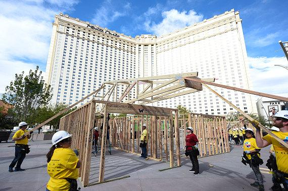 T-Mobile Arena's First Anniversary Celebration Kicked Off with a Habitat for Humanity Las Vegas